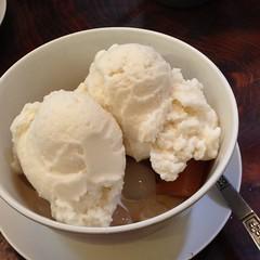 ไอศกรีมกะทิสดกับมันเชื่อมและลูกชิด | Coconut Ice Cream With Glazed Yam And Palm Seed @ ก๋วยเตี๋ยวโป๊ะแตก ห้าแยกพ่อขุน | Guay Tiew Po Taek