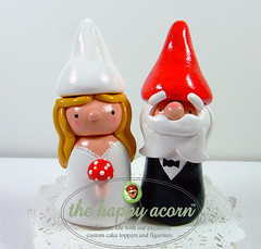 aDSCF5652 copy (The Happy Acorn - Clayworks by Lisa Nowakowski) Tags: original wedding red people sculpture white cute art mushroom cake woodland garden beard groom bride handmade dwarf elf fairy fantasy clay handpainted kawaii figure handcrafted caketopper weddings fairies figurine gnomes topper brideandgroom elves keepsake sculpt polymer weddingcaketopper thehappyacorn stevenowakowski lisanowakowski