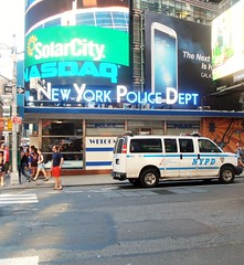 Times Square Police Station (MJ_100) Tags: city nyc usa newyork america truck us cops state manhattan broadway police nypd midtown timessquare van policestation 7thavenue policedepartment