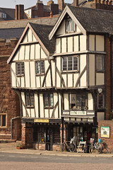 Tudor half-timbered buildings in Exeter (Keith in Exeter) Tags: uk travel england southwest building english architecture tudor historic devon exeter quaint picturesque period halftimbered 15thcentury oldeworlde copyrightkeithbowden2013