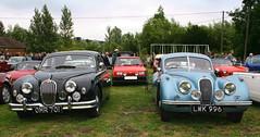 1956 JAGUAR mkI 2.4 - 1952 JAGUARE XK120 3.4 (shagracer) Tags: show classic cars 120 sports car club george automobile rally vehicle jag british jaguar coupe meet 34 the xk longbridge xk120 fhc mki 2013 deverill 24liter lwk996 omr701