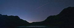 Borrowdale Valley, Lake District National Park (ScottDesignTurner) Tags: trees sky panorama mountain lake mountains night clouds way stars landscape sheep lakedistrict panoramic galaxy valley cumbria astronomy comet milky meteor milkyway shootingstar borrowdale nikond90 blackmosspot