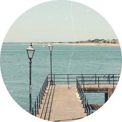 Pier (Tayler Cox) Tags: blue sea sky lights pier lamps edit uploaded:by=flickrmobile flickriosapp:filter=nofilter