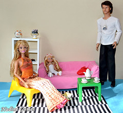 Barbie family (Nadine Gomes) Tags: school ikea toy high stacie doll furniture ken barbie musical kelly 16 sharpay