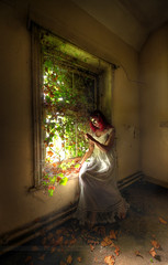 Poisoned Ivy (Sshhhh...) Tags: urban abandoned leaves vintage decay ivy exploration asylum derelict mental nightdress urbex sshhhh