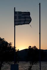 Zante Sunset (Goughy !) Tags: sunset sea sun water flag kitlens greece 1855 zante zakynthos