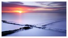Convergence (picturedevon.co.uk) Tags: longexposure seascape southwest colour beach sunrise coast unitedkingdom widescreen fineart september devon le westcountry horizion dawlish 2013 canoneos5dmkii bigstopper wwwpicturedevoncouk takenbydavidhixon 11stopnd
