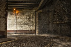 Beaufort St (0-1-6-1) Tags: city bridge light vintage manchester town streetlight united streetphotography tunnel archway cobbles citycentre manchestercitycentre oldmanchester