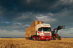 hauling straw, ross-shire, scotland 2010 (Billy Lobban) Tags: industry field truck scotland highlands farming lorry transportation environment agriculture landuse documentaryphotography scania144