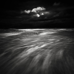 Dark Light (dougchinnery.com) Tags: winter sunset storm sunrise dawn waves dusk patterns stormy minimal northumberland bamburgh minimalist icm longexposures minmalism intentionalcameramovement