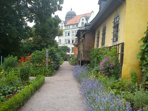 goethe wohnhaus garten gelb anstrich kulturerbe weimar klassik, Hause und garten