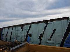TINTO (YardJock) Tags: graffiti spraypaint boxcar piece freighttrain railwaytracks