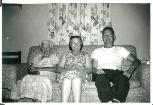 "Myrtle (Crider) Copeland, Dorothy (Copeland) Weaver, and William Delvie Copeland (""Bill""), late 1950s."
