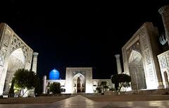 UZBEKISTAN (BoazImages) Tags: nightphotography travel architecture night asian design asia islam silkroad uzbekistan centralasia samarkand registan sq islamic boazimages