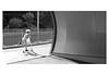 Hurry up! (Toni_V) Tags: street bw motion blur monochrome schweiz switzerland blackwhite movement europe suisse zurich rangefinder scooter zürich svizzera kickboard m9 svizra sep2 summiluxm 2013 niksoftware 50lux manessestrasse ©toniv 130520 leicam9 50mmf14asph l1012065