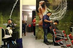 """untitled by Violet Kashi (SP) - SPNC - Year 4 - Instruction # 01: """"When photographying, behave with strangers the same way you behave with your relatives."""" Frederic Le Mauff   My son's getting his hair cut."""