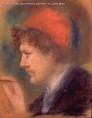Eugenio Prati Autoritratto pastello su carta Mart