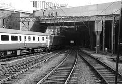 New Street station 001 (FrMark) Tags: uk england monochrome train birmingham britain railway gb 70s seventies newstreet midlands