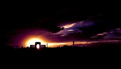 Sunset (Gunavelan) Tags: sunset sky india beach clouds chennai besantnagar incredibleindia