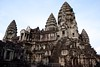 Tops of Angkor Wat Right View from Second Floor (Patumraat) Tags: world old travel holiday building tourism architecture wonder thailand temple ancient cambodia vishnu god religion ruin culture buddhism siem classical civilization wat hindu asean reise reab