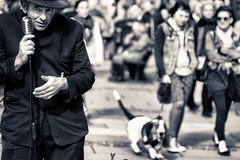 jerri hart (fat-freddies-cat two million views) Tags: street england musician music dog hat bath trumpet jazz somerset singer streetperformer fedora busker vision:people=099 vision:face=099 vision:outdoor=0907 vision:sky=0697
