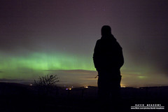 A Final Glimpse (DMeadows) Tags: morning sky selfportrait man tree green silhouette night standing self dark stars landscape person lights solar dundee angus atmosphere astrophotography aurora figure flare northern borealis davidmeadows dmeadows davidameadows dameadows mobilephonecableinthepocket
