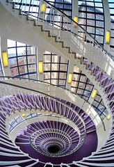 Loop the loop (The Green Album) Tags: windows light london lines spiral purple curves staircase carpets bannister sweeping