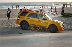 Lifeguard (Fra-Giu) Tags: sunset usa beach losangeles surf tramonto jeep santamonica guard lifeguard panasonic spiaggia plaja bagnino