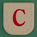 Line Word red letter C