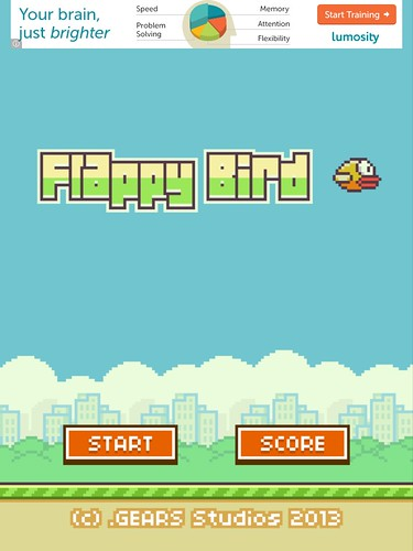 Flappy Bird Main Menu: screenshots, UI
