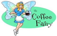 coffee fairy (kerry white) Tags: woman hot silly coffee wings humor beverage pot fairy fantasy waitress caffeine winged vector caffiene
