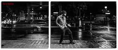 Man versus footpath (brefoto) Tags: blackandwhite flash lighttrails stalingrad strobist paris10me