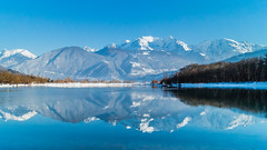 2015-01-01 - 16h18m54s - DSC03370 (misterdev) Tags: mountain lake reflection montagne lac montblanc passy