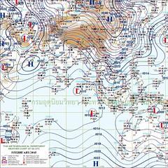 ลักษณะอากาศทั่วไป  วันที่ 05 กุมภาพันธ์ 2558 ความกดอากาศสูงกำลังค่อนข้างแรงอีกระลอกหนึ่งได้ปกคลุมประเทศเวียดนามตอนบนแล้ว คาดว่าจะแผ่ลงมาปกคลุมภาคตะวันออกเฉียงเหนือ ในคืนนี้ (5 ก.พ.58) ลักษณะเช่นนี้ทำให้ในช่วงวันที่ 6-9 กุมภาพันธ์ 2558 บริเวณประเทศไทยตอนบน