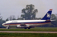 Air Liberia Boeing 737 EL-AIL Stansted airport hijack (simonmurdoch262003) Tags: london airport air liberia stansted stn hijacking egss