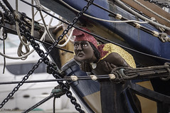 'Hawaiian Chieftain' (Greatest Paka Photography) Tags: wood port oakland ship symbol vessel carving coastal bow packet sailingship figurehead ornamentation prow clippership hawaiianchieftain packetship drakethomas rayrichards barondorcyjr coastalpacket