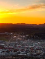 Postojna (Nstajn) Tags: city travel light sunset sky sun trekking colours pentax ngc samsung slovenia dslr gx10 postojna lovelycity smcpfa50mmf28 pentaxart luckyorgood smcpentaxfa2850mmmacro