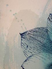 DSC09523 (scott_waterman) Tags: blue detail ink watercolor painting paper lotus gouache bluehue lotusflower scottwaterman
