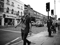 "London Black and White Street Photography - ""The Great Londoners"" (Nicholas Goodden) Tags: people monochrome tattoo punk camden candid voigtlander streetphotography olympus piercing mohawk shotfromthehip manualfocus camdentown alternative blackandwhitephotography urbanphotography londoners peopleonthestreets manuallens fleshtunnel blackandwhitestreetphotography londonphotography microfourthirds omdem1"