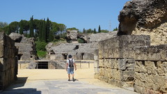 Italica,  Amphitheatre, Roman Ruins, Seville, Spain - May 2016 (Keith.William.Rapley) Tags: spain amphitheatre bluesky seville italica romanruins keithwilliamrapley