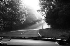 On the road (NadineLange) Tags: blackandwhite white black monochrome blackwhite monochrom schwarz sunray weis schwarzweis mhlau