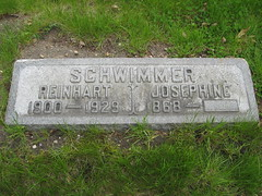 Reinhart Schwimmer Grave Site, St. Valentine's Day Massacre Victim (Chicago Crime Scenes) Tags: cemetery saint gangster gang mob mobster valentinesday optician capone