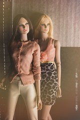 Lovetones Lena and Roxy (Sharon Wright Photography) Tags: fashion magazine stand doll sharon editorial wright fashiondoll lovetones