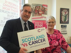 On visit to Cancer Research UK shop in North Berwick