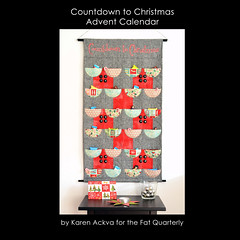 Countdown to Christmas (easypatchwork) Tags: christmas red black wall modern advent pattern calendar fat calender hanging instructions patchwork countdown applique pockets quarterly
