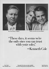 Kenneth Cole 1988 (barbiescanner) Tags: 1988 80s jimmyswaggart spymagazine kennethcole 80sads 80sfashion jimbakker 80sculture ptlclub tammybakker 80slifestyle reverendbakker vintagekennethcole