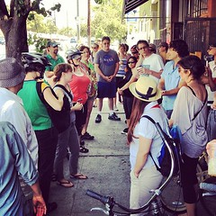 Big group at @flyingpigeonLA for our... (A Walker in LA) Tags: flyingpigeonla uploaded:by=flickstagram instagram:photo=20575820806004761841860655