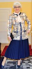 Ingrid022023 (ingrid_bach61) Tags: skirt mature button blazer pleated faltenrock bowblouse schleifenbluse durchgeknpft