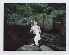 b highly suspicious (Ian Allaway) Tags: rocks instant outtake suspicious highly fp100c polaroid600se