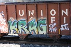 06192016 019 (CONSTRUCTIVE DESTRUCTION) Tags: train graffiti streak tag boxcar graff piece moniker krag